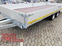 Eduard 3500 KG Multitransporter - Gebremste Doppelachser - 5.5x2.2m - Ladehöhe:63 cm - 195/50R13 - Bordwände 30cm  - Seilwinde - Auffahrrampen