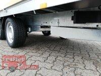 Eduard 2700 KG Multitransporter - Gebremster Doppelachser - 3.56x1.8m - Ladehöhe:63 cm - 195/50R13 - Auffahrschienen  - Bordwände 30cm