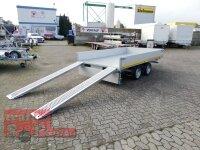 Eduard 3000 KG - 3 Seitenkipper -  Gebremster Doppelachser - 3.3x1.8m - Ladehöhe:63 cm - 195/50R13C - Auffahrrampen - E-Pumpe