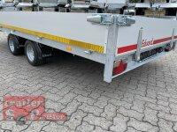 Eduard 2700 KG Multitransporter - Gebremste Doppelachser - 4.0x2.0m - Ladehöhe:56 cm - 195/55R10 - Auffahrschienen & Winde - Bordwände 30cm
