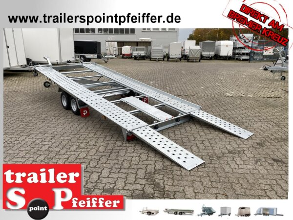 Pongratz L-AT 470 T-K 3000 kg kippbarer Autotransporter Trailer