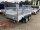 Saris McAlu Pro FW2700 Alu Tieflader - Tandem Anhänger gebremst mit Reling mit Laubgitter