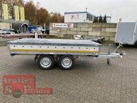 Eduard 2700 KG Hochlader - Gebremste Doppelachser - 3.1x1.6m - Ladehöhe:72 cm - 185/70R13 - Bordwände 30cm mit Flachplane und 100 KM/H