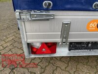 Saris McAlu Pro DV75 Alu Tieflader - Anhänger ungebremst mit Reling mit Hochplane SP-Line