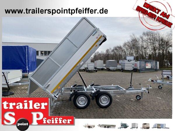 Eduard 750 KG Rückwärts Kipper - Ungebremste Doppelachser - 2.6x1.5m - Ladehöhe:72 cm - 155R13 - Bordwände 30cm mit Kastenaufsatz 60 cm