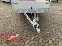 Eduard 2000 KG Hochlader - Gebremste Doppelachser - 4.0x1.8m - Ladehöhe:63 cm - 195/50R13 - Bordwände 30cm