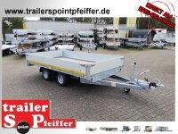 Eduard 2700 KG Hochlader - Gebremste Doppelachser - 3.56x1.8m - Ladehöhe:56 cm - 195/55R10 - Bordwände 30cm