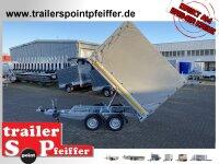 Eduard 2000 KG Heckkipper - Gebremste Doppelachser - 2.6x1.5m - Ladehöhe:72 cm - 155R13 - Bordwände 30cm - Hochplane SP-Line