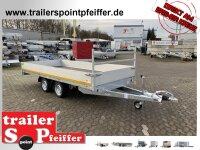Eduard 3500 KG Hochlader - Gebremste Doppelachser - 4.0x1.8m - Ladehöhe:63 cm - 195/50R13 - Bordwände 30cm