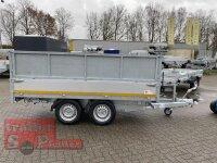 Eduard 2700 KG Heckkipper - Gebremste Doppelachser - 3.1x1.6m - Ladehöhe:72 cm - 185/70R13 - Bordwände 30cm - Auffahrtschienen - Kastenaufsatz 60 cm