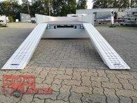 Eduard 3000 KG Multitransporter - Gebremste Doppelachser - 6x2.2m - Ladehöhe:63 cm - 195/50R13 - Auffahrschienen & Winde - Bordwände 30cm