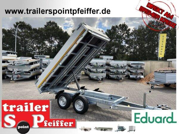 Eduard 2700 KG Rückwärtskipper - Gebremster Doppelachser - 3.1x1.6m - Ladehöhe:72 cm - 185/70R13 - Bordwände 30cm - Auffahrschienen - Schwerlaststützen