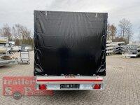 Eduard 2700 KG Heckkipper - Gebremste Doppelachser - 3.1x1.8m - Ladehöhe:63 cm - 195/50R13 - Bordwände 30cm - Hochplane SP-Line