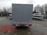 Eduard 3000 KG Multitransporter - Gebremste Doppelachser - 4.0x2.0m - Ladehöhe:63 cm - 195/50R13 - Auffahrschienen & Winde - Bordwände 30cm mit Hochplane SP Line
