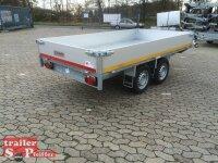 Eduard 2500 KG Heckkipper - Gebremster Doppelachser - 3.1x1.6m - Ladehöhe:72 cm - 165R13 - Bordwände 40cm