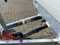 Eduard 2700 KG Heckkipper - Gebremste Doppelachser - 3.1x1.6m - Ladehöhe:63 cm - 195/50R13 - Bordwände 30cm - Elektro Pumpe - Auffahrtschienen - Laubgitter 70 cm
