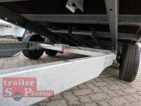 Saris TP 406 204 2700 2 - 2700 KG Multitransporter - hydraulisch kippbar - 4 x 2 m - Ladehöhe: 66 cm - 195/50R13 - ALU - Auffahrschienen - Stahl Reling