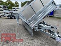 Pongratz 3-SKS 3600/17 T 3500 Stahlwände Tandem Dreiseitenkipper E-Pumpe mit geschlossenem Kastenaufsatz 60 cm