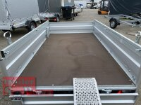 Pongratz LPA 250/13 G UNI 1300 kg  Kastenanhänger gebremst - Rampe - Stützen - Staukiste - Reling