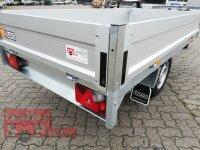 Saris PL 256 150 1500 1 - 1500 KG Hochlader - Pritsche - 256 x 150 - Ladehöhe: 66 cm - ALU Bordwände