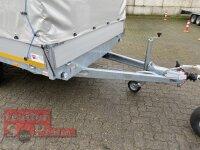 Eduard 2000 KG Hochlader - Gebremste Doppelachser - 4.0x2.0m - Ladehöhe:72 cm - 155R13 - Bordwände 30cm mit Hochplane SP-Line