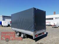 Saris PL 406 184 2700 2 - 2700 KG Hochlader - Pritsche - 406 x 184 - Ladehöhe: 68 cm - ALU Bordwände mit Hochplane SP-Line