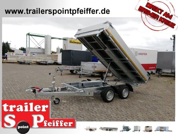 Eduard 3500 KG Rückwärtskipper - Gebremster Doppelachser - 3.1x1.8m - Ladehöhe:63 cm - 195/50R13 - Bordwände 30cm - E-Pumpe / Notpumpe - Auffahrschienen - Schwerlaststützen