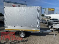 Eduard 750 KG Hochlader - Gebremste Einzelachser - 2.5x1.45m - Ladehöhe:63 cm - 195/50R13 - Bordwände 30cm Hochplane SP-Line