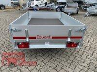 Eduard 750 KG Hochlader - Ungebremste Einzelachser - 2.0x1.45m - Ladehöhe:56 cm - 145/80R10 - Bordwände 30cm