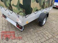 TPV TL-EU3 Anhänger 750 kg - 100 KM/H - PKW Anhänger - Hochplane Camouflage 180