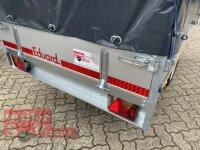 Eduard 1350 KG Hochlader - Gebremste Einzelachser - 2.5x1.45m - Ladehöhe:63 cm - 195/50R13 - Bordwände 30cm Hochplane SP-Line