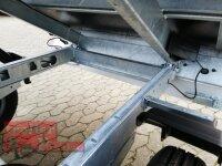 Eduard 2700 KG Rückwärtskipper - Gebremste Doppelachser - 2.6x1.5m - Ladehöhe:72 cm - 185/70R13 - Bordwände 30cm und 70 cm Gitter - Aufsatz