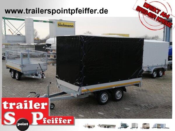 Eduard 2500 KG Hochlader - Gebremster Doppelachser - 3.1x1.6m - Ladehöhe:72 cm - 155R13 - Bordwände 30cm mit Plane SP-Line