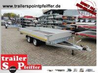 Eduard 2700 KG Hochlader - Gebremste Doppelachser - 3.56x2.0m - Ladehöhe:63 cm - 195/50R13 - Bordwände 30cm