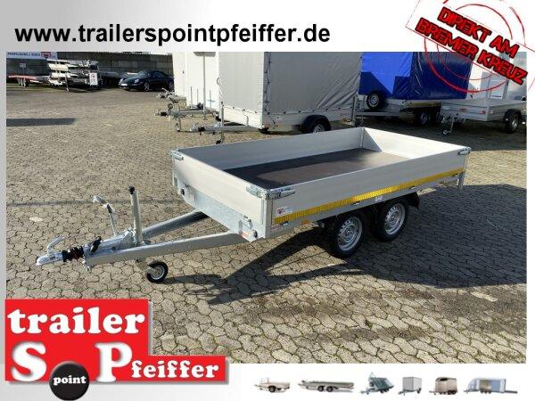 Eduard 2700 KG Hochlader - Gebremste Doppelachser - 3.1x1.8m - Ladehöhe:63 cm - 195/50R13 - Bordwände 30cm