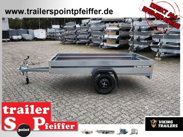 Viking Freya LBS 07512 Anhänger - 750 kg - 252 x 125 x 32 cm - Tieflader