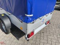 TPV TL-EU2 Anhänger mit Hochplane TPSP - Spitzdach - 120 cm Innenhöhe - ungebremst - 13 pol. - Zurrösen - 100 KM/H