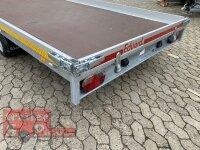 Eduard 1500 KG Multitransporter - Gebremster Einachser - 3.56x2.0m - Ladehöhe:56 cm - 195/55R10 - Auffahrschienen  - Seilwinde - Bordwände 10cm