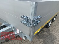 Eduard 2700 KG Multitransporter - Gebremste Doppelachser - 4.0x1.8m - Ladehöhe:63 cm - 195/50R13 - Bordwände 30cm mit Rampen , Winde und 30 cm Bordwandaufsatz