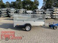 Saris McAlu Pro DV75 Alu Tieflader - Anhänger ungebremst mit Reling mit Laubgitter