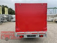 Eduard 1500 KG Multitransporter - Hochlader - gebremste Einzelachser - 3.1x1.6m - Ladehöhe:63 cm - 195/50R13 - Bordwände 30cm Hochplane SP-Line