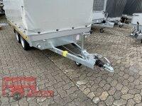 Eduard 2700 KG Hochlader - Gebremste Doppelachser - 3.1x1.6m - Ladehöhe:63 cm - 195/50R13 - Bordwände 30cm mit Plane SP-Line