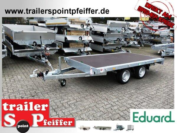 Eduard 2000 KG Hochlader - Gebremste Doppelachser - 3.3x1.8m - Ladehöhe:63 cm - 195/50R13 - Flach