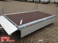 Eduard 1350 KG Hochlader - Gebremste Einzelachser - 2.6x1.5m - Ladehöhe:56 cm - 195/55R10 - Bordwände 30cm