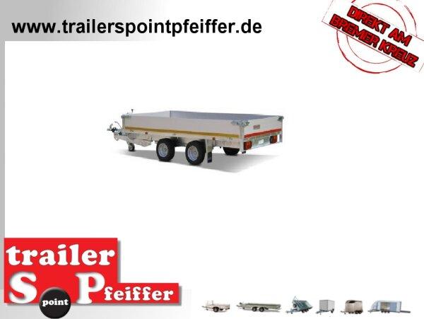 Eduard 2000 KG Hochlader - Gebremste Doppelachser - 3.3x1.8m - Ladehöhe:56 cm - 195/55R10 - Bordwände 30cm
